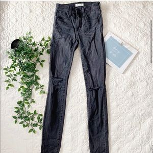 """Madewell 9"""" High Rise Skinny Ripped Jeans"""